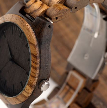 "Montre à Quartz en bois de Bambou ""Fashion Zen"""