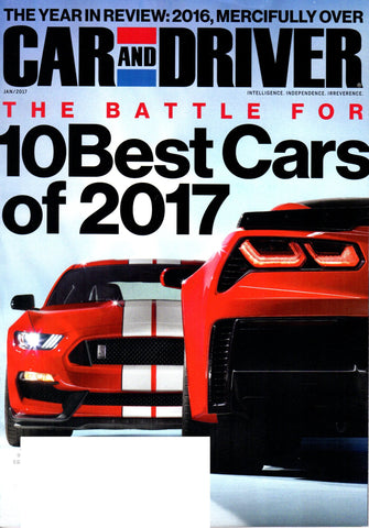 CAR AND DRIVER JANUARY 2017