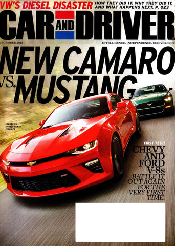 CAR AND DRIVER  DECEMBER 2015