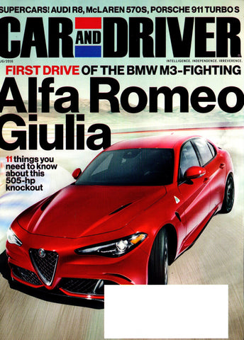 CAR AND DRIVER  AUGUST 2016