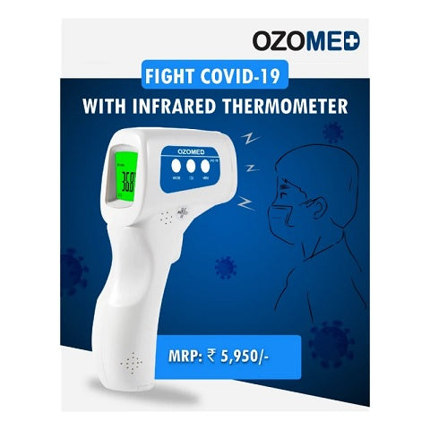 Ozone OZOMED Contactless Digital Thermometer, White (OZM-DT-01 Std)