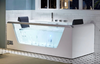 EAGO AM196ETL 6' Clear Rectangular Jacuzzi Whirlpool Bathtub for Two