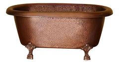 Picasso Double Roll Copper Clawfoot Freestanding Tub
