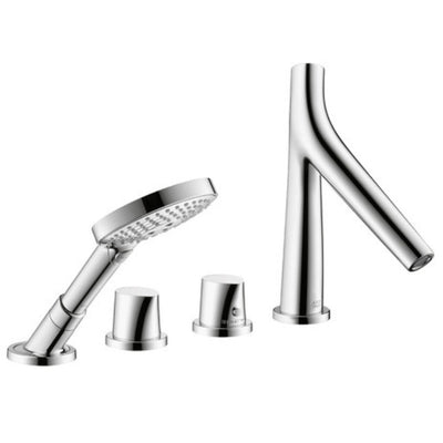 Axor Starck Organic 4 Hole Roman Tub Set (Chrome)