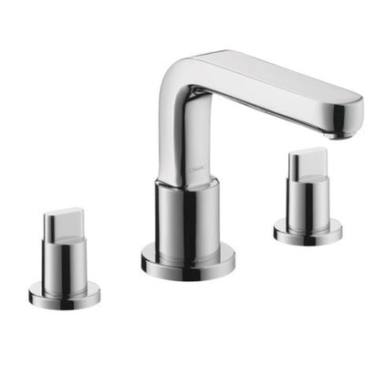 hansgrohe Metris S 3 Hole Roman Tub Trim with Full Handle