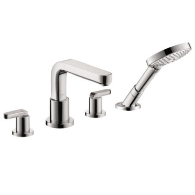 hansgrohe Metris S 4 Hole Roman Tub Trim with Lever Handle