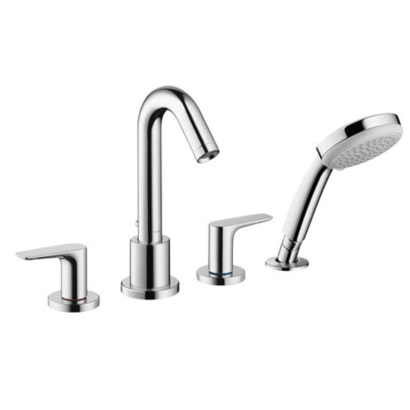 hansgrohe Logis 4-Hole Roman Tub Set LEVER - Luxury Freestanding Tubs