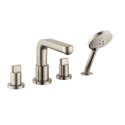hansgrohe Metris S 4 Hole Roman Tub Trim w/Full Handle