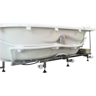 "EAGO AM124-R 71"" Double Corner Acrylic White Jetted Whirlpool Freestanding Bathtubs"