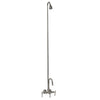 Barclay Products 4013-PL-CP Clawfoot Tub Filler – Diverter Faucet with Code Gooseneck Spout polished Chrome in White Background