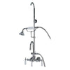 Barclay Products Tub/Shower Faucet with Handheld Shower Brushed Nickel in White Background