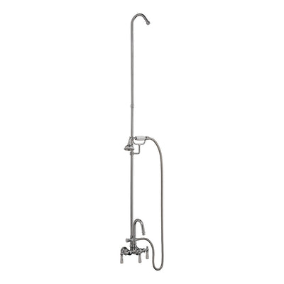 Barclay Products Tub/Shower Faucet with Handheld Shower Polished Chrome in White Background