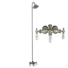 Barclay Products 4031-PL-CP Clawfoot Tub/Shower Converto Unit with Diverter Faucet Polished Chrome in White Background