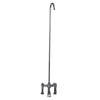 Barclay Products Clawfoot Two Handles Tub Filler Polished Chrome in White Background