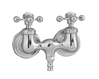 Barclay Products Clawfoot Tub Filler – Metal Cross Handles Polished Chrome in White Background