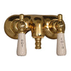 Barclay Products Clawfoot Tub Filler – Lever Handles Polished Brass in White Background