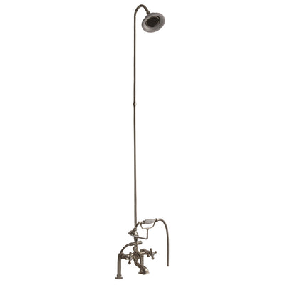 Barclay Products Tub/Shower Converto Unit – Elephant Spout with Handshower Polished Nickel in White Background