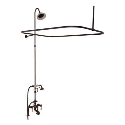 Barclay Products Tub/Shower Converto Unit – Elephant Spout, Shower Ring, Riser, Showerhead - Affordable Cheap Freestanding Clawfoot Bathtubs Tub
