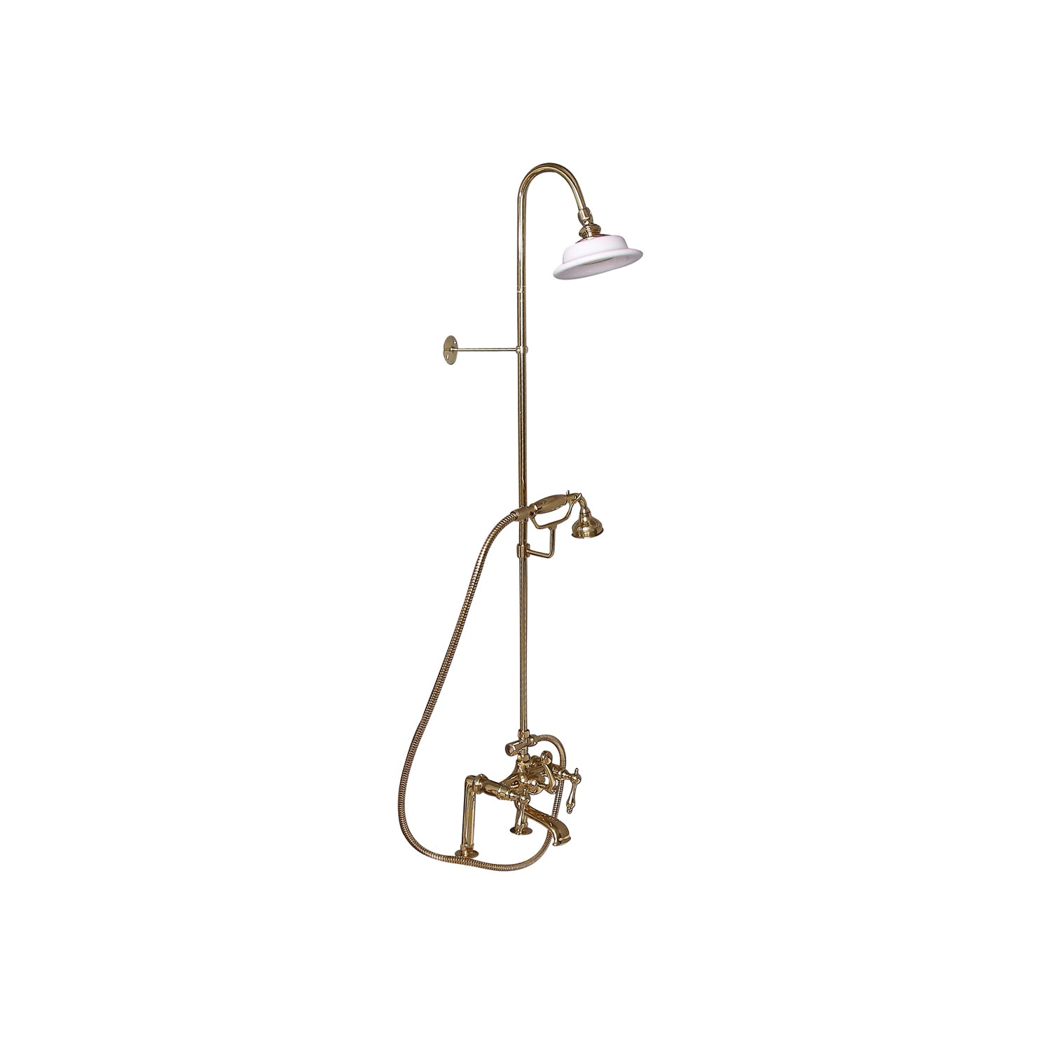 Barclay Products Clawfoot Tub Shower Converto Unit With Handshower