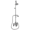 Barclay Products Clawfoot Tub/Shower Converto Unit with Handshower Polished Chrome in White Background