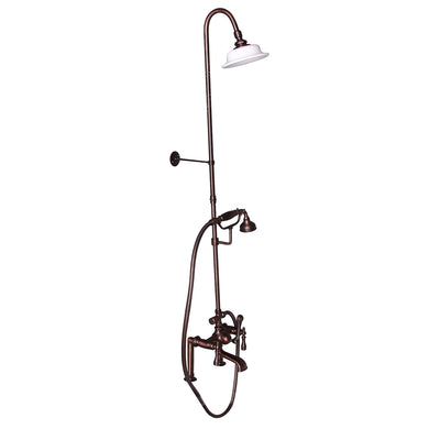 Barclay Products Clawfoot Tub/Shower Converto Unit with Handshower Oil Rubbed Bronze in White Background