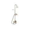 Barclay Products Clawfoot Tub/Shower Converto Unit with Handshower Polished Brass in White Background