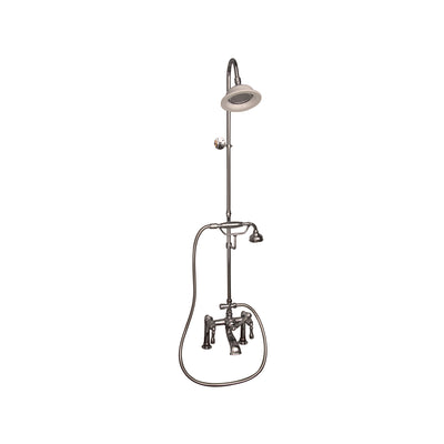 Barclay Products Clawfoot Tub/Shower Converto Unit with Handshower Polished Nickel in White Background