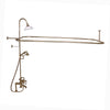 Barclay Products Rectangular Shower Unit – Metal Lever Handles Polished Brass in White Background