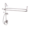 Barclay Products Rectangular Shower Unit – Metal Lever 2 Handles Brushed Nickel in White Background