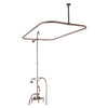 "BARCLAY PRODUCTS 4143 CODE RECTANGULAR SHOWER UNIT - Handheld shower with cradle and 59"" hose, For cast iron tub use only"