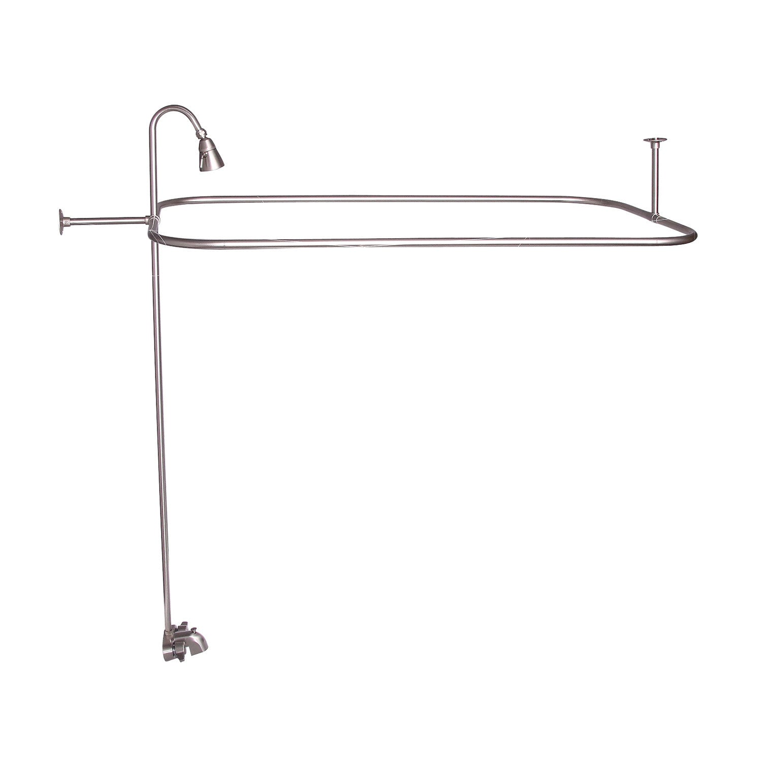 Barclay Products 4190-48 Rectangular Shower Unit – 48″ x 24″ with End Wall Support