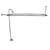 "Barclay Products Code Spout ""D"" Rod Clawfoot Tub Shower Unit Polished Chrome in White Background"