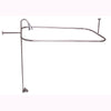 "Barclay Products Code Spout ""D"" Rod Clawfoot Tub Shower Unit polished Nickel in White Background"
