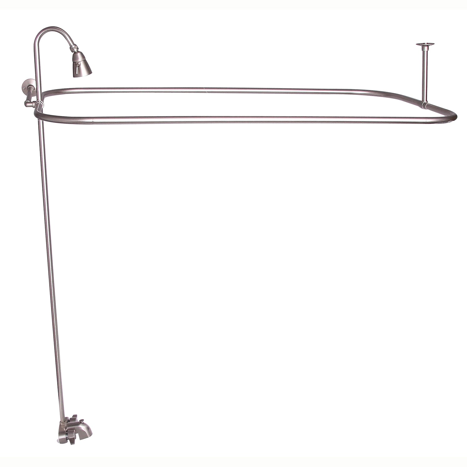 Barclay Products Converto Rectangular Shower Unit With Side Wall Suppo Luxury Freestanding Tubs