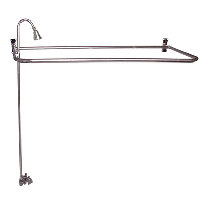"Barclay Products 4193-48-PN Rectangular ""D"" Shower Unit – 60″ x 26 Polished Nickel in White Background"