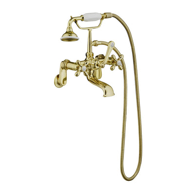 Barclay Products Clawfoot Tub Filler – Elephant Spout, Hand Held Shower, Swivel Mounts - Affordable Cheap Freestanding Clawfoot Bathtubs Tub