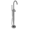 Barclay Products 7913-CP Burney Thermostatic Freestanding Tub Filler – 45-1/2″ Polished Chrome in White Background