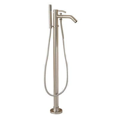 Barclay Products 7934-BN Madon Freestanding Tub Filler Brushed Nickel in White Background