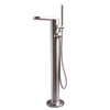 Barclay Products 7956 McWay Freestanding Thermostatic Tub Filler in White background