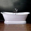 Cambridge Plumbing Cast Iron Double Ended Pedestal Slipper Tub 72 X 30 - Affordable Cheap Freestanding Clawfoot Bathtubs Tub
