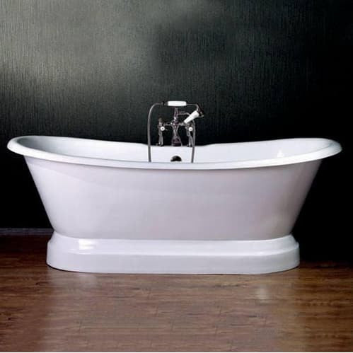13d0759f2ca Cambridge Plumbing Cast Iron Double Ended Pedestal Slipper Tub 72 X 30 - Affordable  Cheap Freestanding