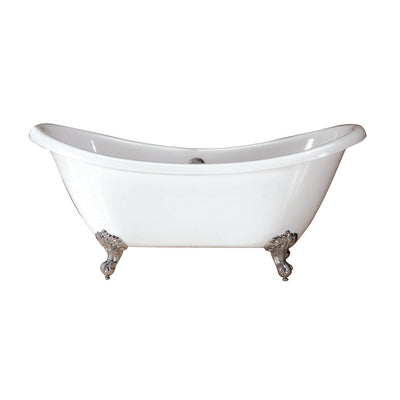 Barclay Products Merrick Acrylic Dbl Slipper,WH - Affordable Cheap Freestanding Clawfoot Bathtubs Tub