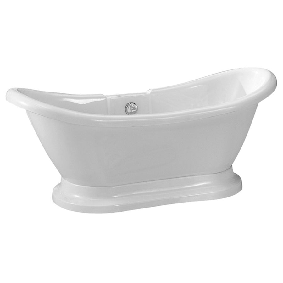 60617eca8c6 Barclay Products Montebello Acrylic Double Slipper Freestanding Clawfoot  Bathtubs Tub Front View White Background
