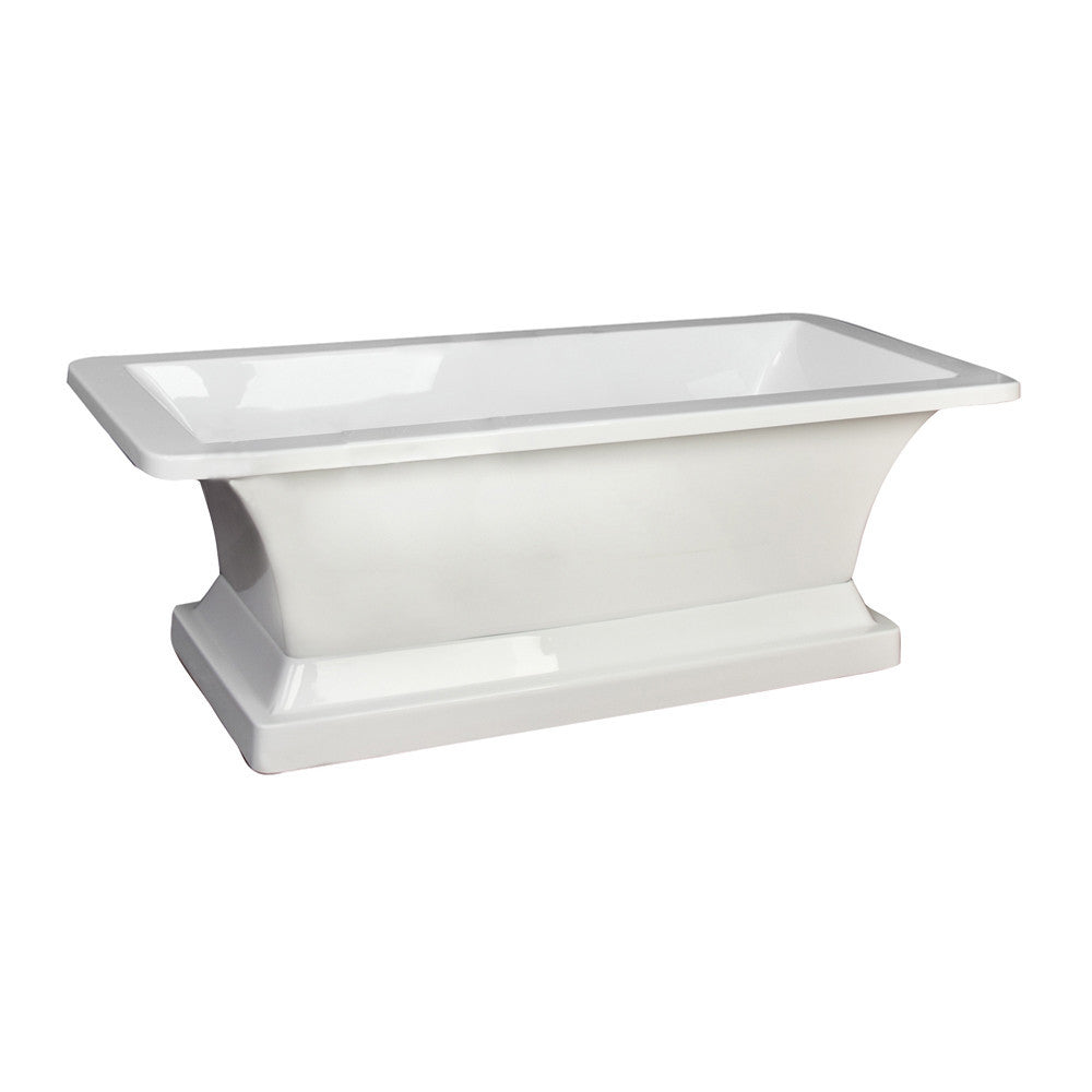 Barclay Sydney Acrylic Rectangular Freestanding Tub With Base ...