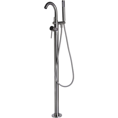 Alfi Brand AB2534 Floor Mount Tub Filler with Shower Head Polished/Brushed - Affordable Cheap Freestanding Clawfoot Bathtubs Tub