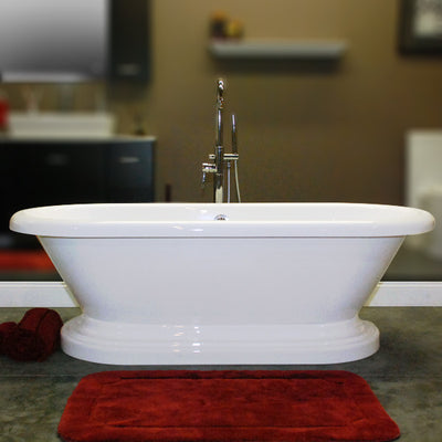 "Cambridge Plumbing Acrylic Double Ended Pedestal Bathtub 70"" X 30"""