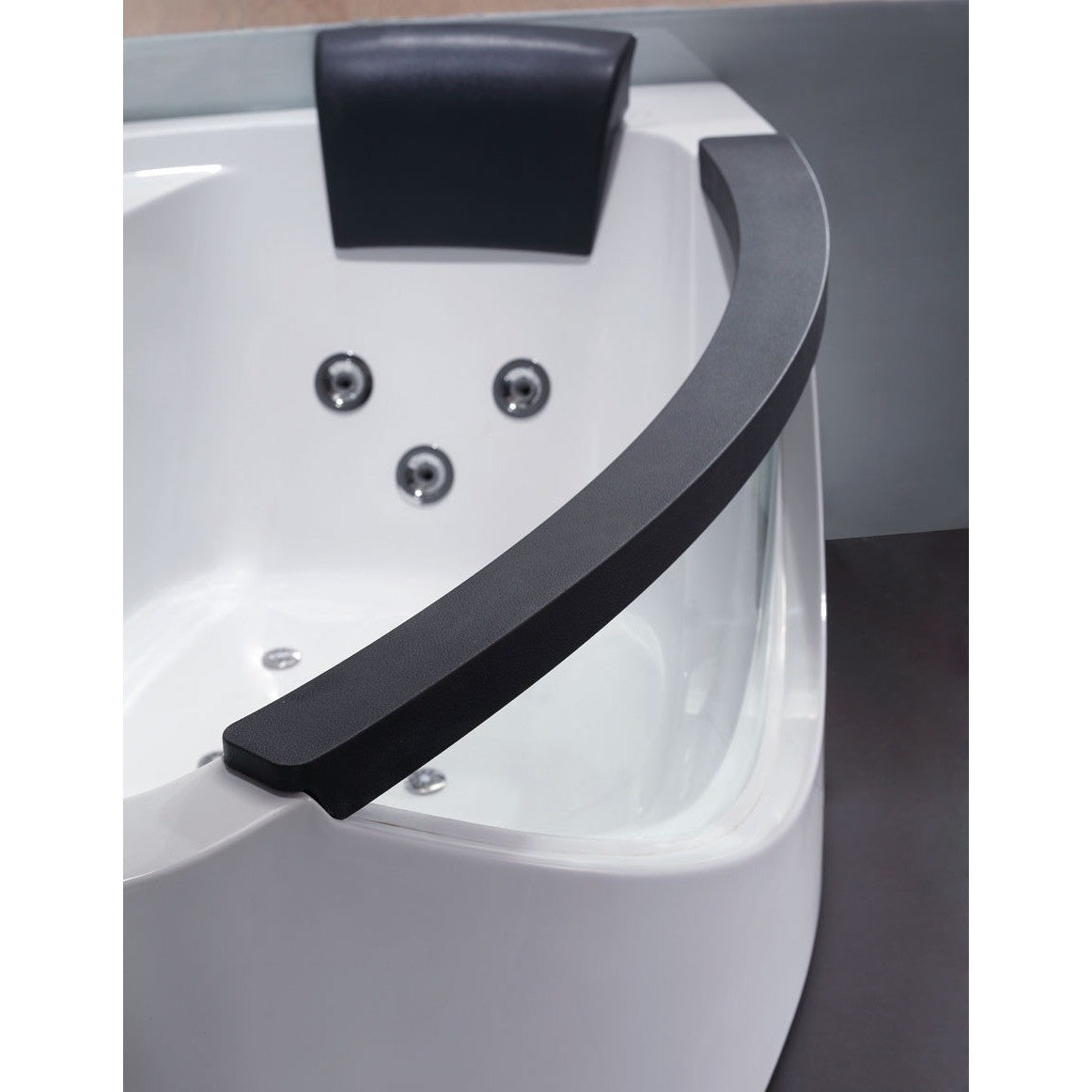EAGO AM198ETL-L 5\' Left Drain Rounded Clear Modern Corner Whirlpool ...