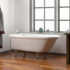 Barclay Anthea Acrylic Double Roll Top Freestanding Bathtub