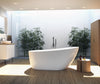 "A & E Bath and Shower Riviera 59"" Premium Oval Freestanding Bathtub"