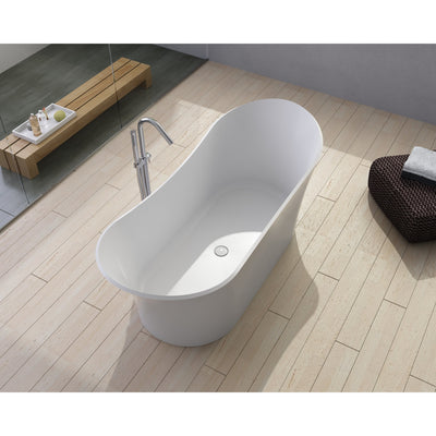 "Control Brand True Solid Surface Soaking Tub - ""Cloud"" - Affordable Cheap Freestanding Clawfoot Bathtubs Tub"
